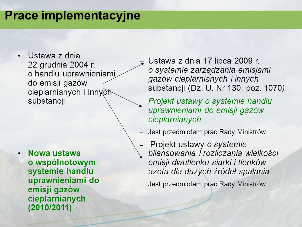 Okres przejściowy – wyniki negocjacj i W 2013 r.