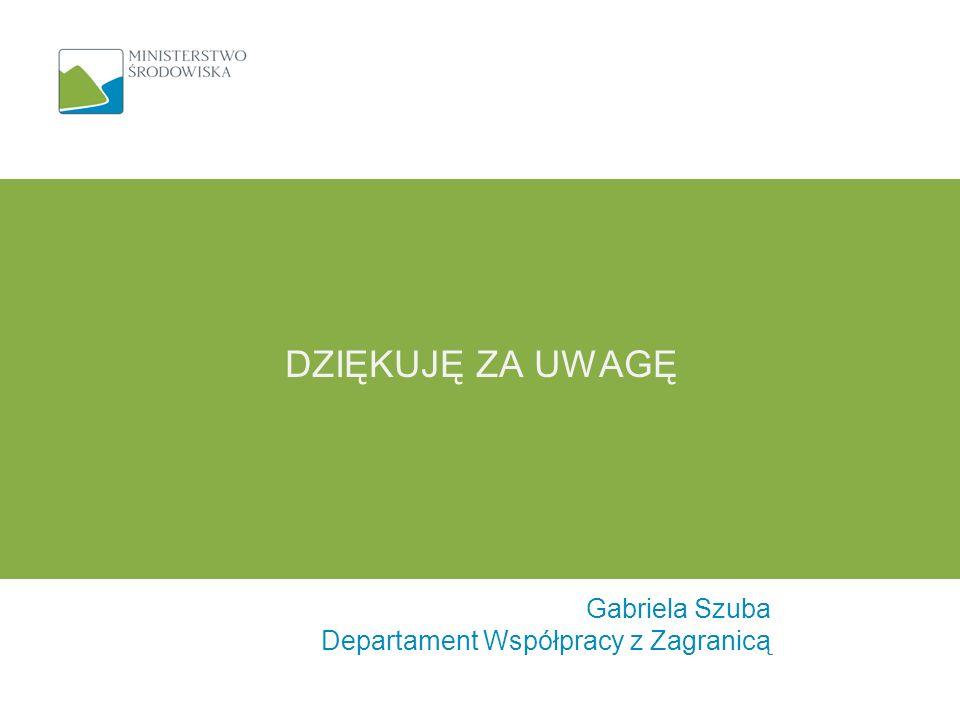Gabriela Szuba Departament Współpracy z Zagranicą DZIĘKUJĘ ZA UWAGĘ