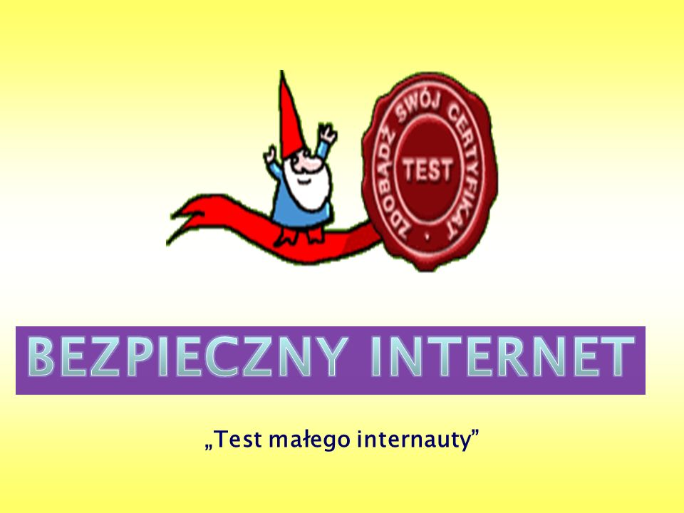 Test małego internauty
