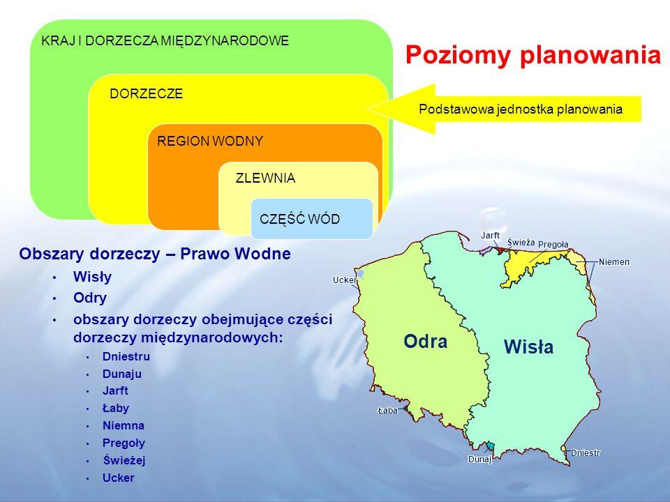 Wymagania planistyczne wg RDW Artykuł 13 Plany gospodarowania wodami w dorzeczu 1.Państwa Członkowskie zapewniają opracowanie planów gospodarowania wodami w dorzeczu dla każdego obszaru dorzecza leżącego całkowicie na ich terytorium.