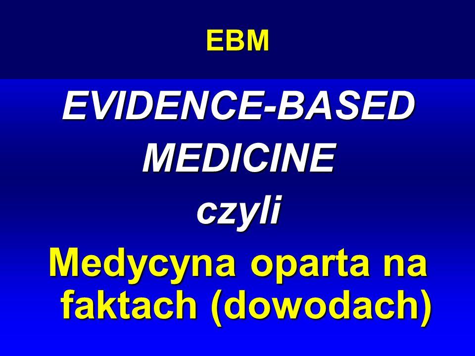 EBMEVIDENCE-BASEDMEDICINEczyli Medycyna oparta na faktach (dowodach)