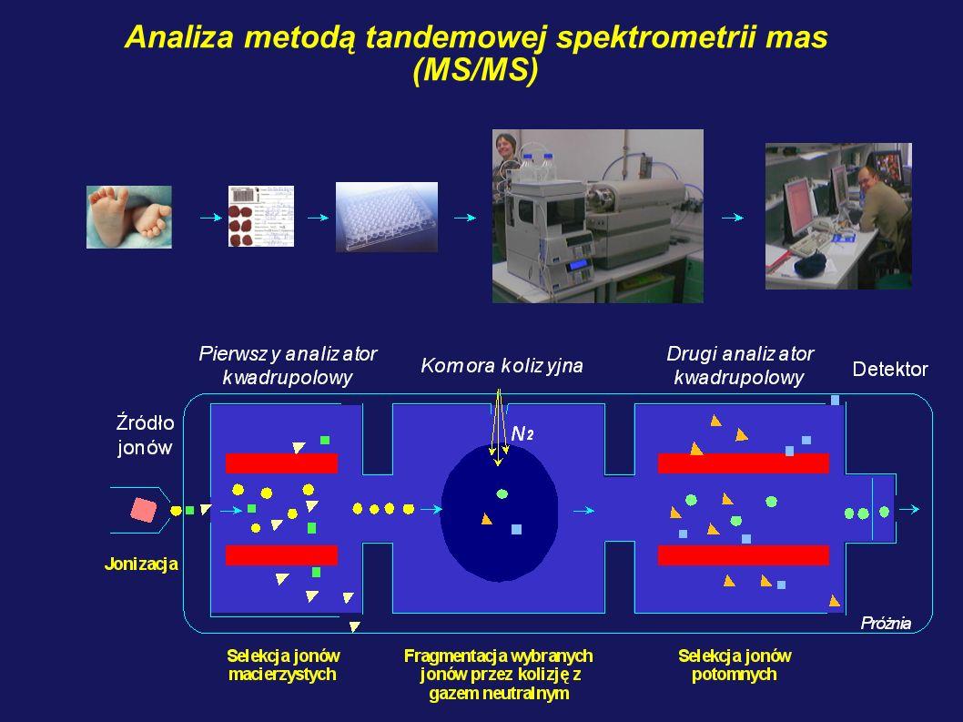 Analiza metodą tandemowej spektrometrii mas (MS/MS)