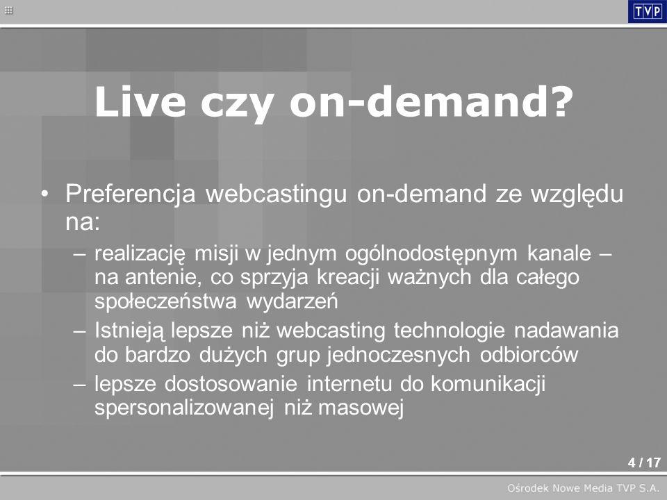 4 / 17 Live czy on-demand.
