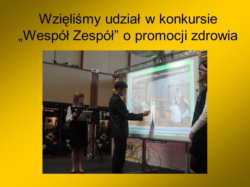 Wzięliśmy udział w konkursie Wespół Zespół o promocji zdrowia