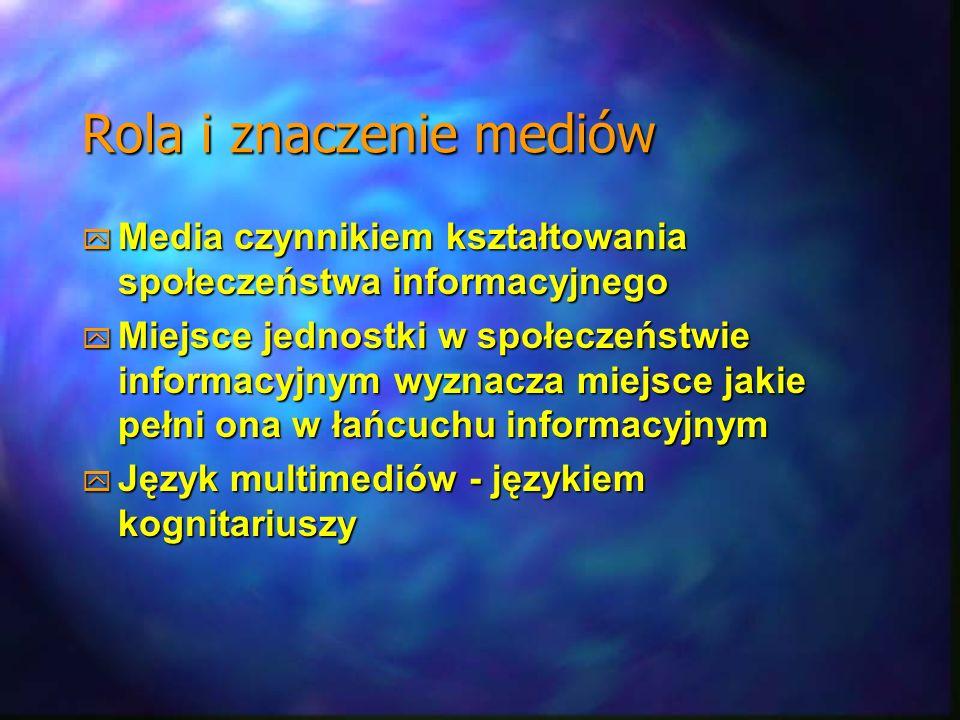 Rola i znaczenie mediów Media czynnikiem kształtowania społeczeństwa informacyjnego Media czynnikiem kształtowania społeczeństwa informacyjnego Miejsc