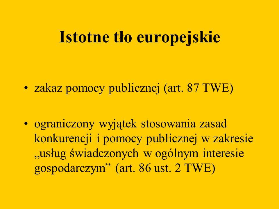 Istotne tło europejskie zakaz pomocy publicznej (art.