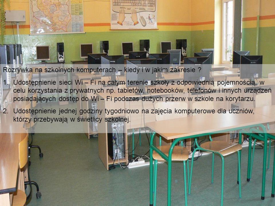 Rozrywka na szkolnych komputerach – kiedy i w jakim zakresie .