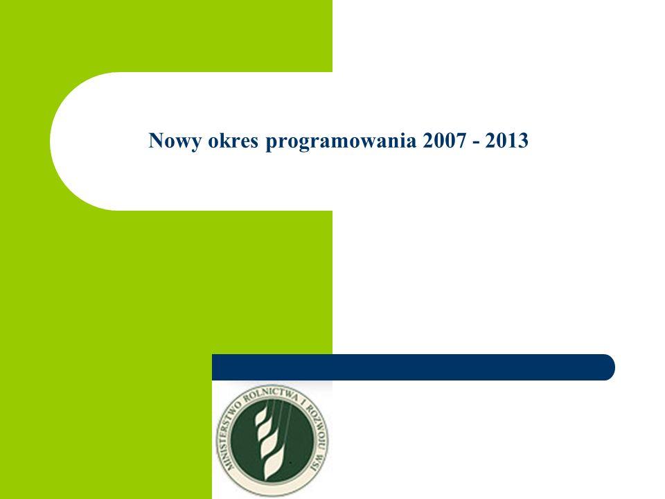 Nowy okres programowania 2007 - 2013