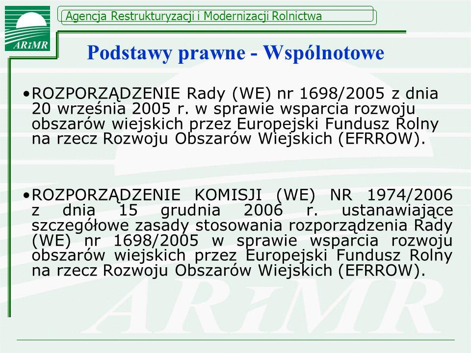 Od 1 stycznia 2011 straciło ważność: Rozporządzenie Komisji (WE) Nr 1975/2006 ustanawiające szczegółowe zasady stosowania rozporządzenia Rady (UE) nr 1698/2005 w zakresie wprowadzenia procedur kontroli, jak również wzajemnej zgodności w odniesieniu do środków wsparcia rozwoju obszarów wiejskich, zmienionego rozporządzeniem Nr 484/2009 z dnia 09.06.2009 r.
