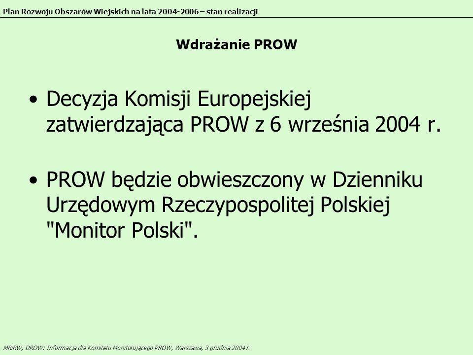 Polskie podstawy prawne Ustawa o wspieraniu rozwoju obszarów wiejskich ze środków pochodzących z Sekcji Gwarancji EAGGF (Dz.U.