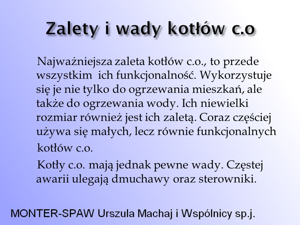 1.Nazwa firmy Monter-Spaw Urszula i Wspólnicy sp.j.