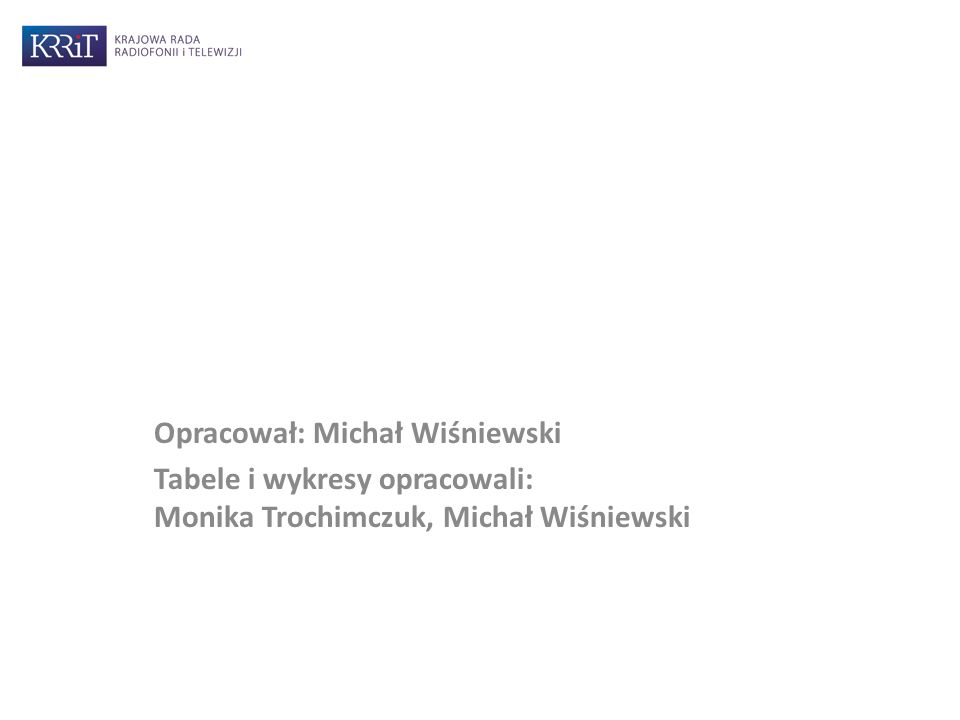 Opracował: Michał Wiśniewski Tabele i wykresy opracowali: Monika Trochimczuk, Michał Wiśniewski
