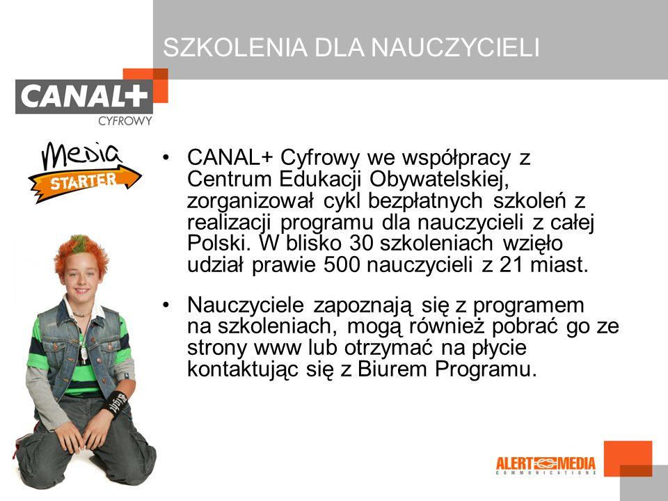 CANAL+ Cyfrowy we współpracy z Centrum Edukacji Obywatelskiej, zorganizował cykl bezpłatnych szkoleń z realizacji programu dla nauczycieli z całej Pol