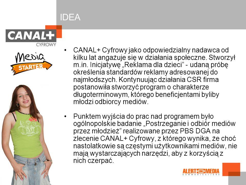 CANAL+ Cyfrowy jako odpowiedzialny nadawca od kilku lat angażuje się w działania społeczne. Stworzył m.in. Inicjatywę Reklama dla dzieci - udaną próbę