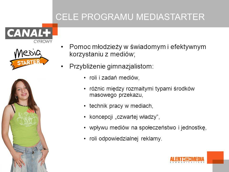 Pomoc młodzieży w świadomym i efektywnym korzystaniu z mediów; Przybliżenie gimnazjalistom: roli i zadań mediów, różnic między rozmaitymi typami środk