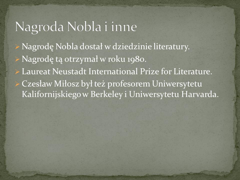 Czesław Miłosz miał brata-Andrzeja Miłosza.