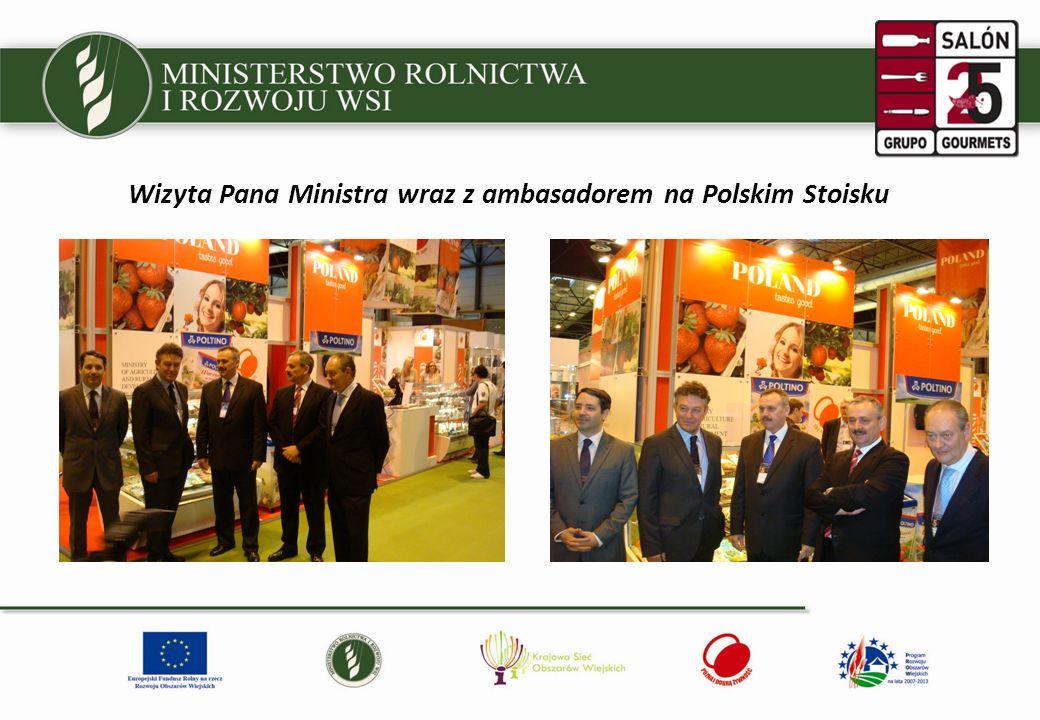 Wizyta Pana Ministra wraz z ambasadorem na Polskim Stoisku
