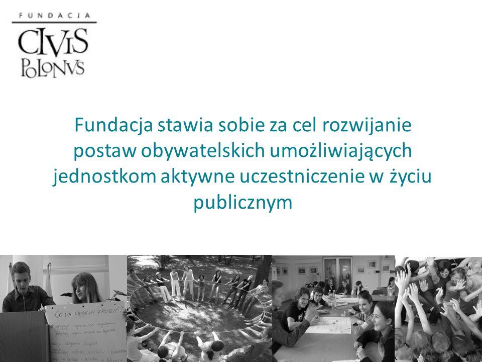 Fundacja stawia sobie za cel rozwijanie postaw obywatelskich umożliwiających jednostkom aktywne uczestniczenie w życiu publicznym