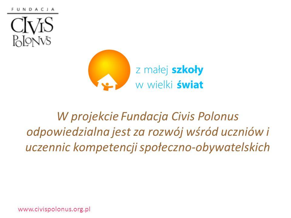 www.civispolonus.org.pl 119 małych wiejskich szkół podstawowych 7000 dzieci 440 nauczycieli 9 województw