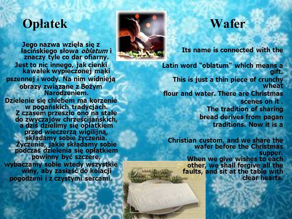 Sianko wigilijne Christmas hay Kładziemy je pod białym obrusem na stole, przy którym będziemy spożywać wigilijną kolację.