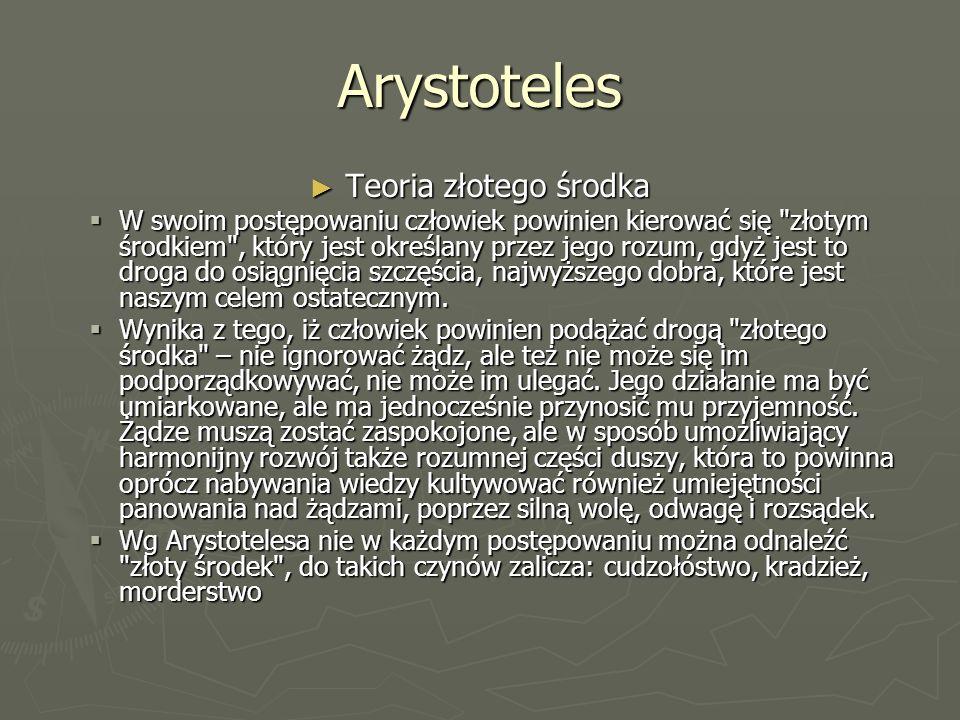 Koncepcje państwa Koncepcja Arystotelesa – określał państwo jako pewna wspólnotę (organizacje) rożnych grup ludzi niezbędnych do jego istnienia; państwo w tym ujęciu to wspólnota równych.