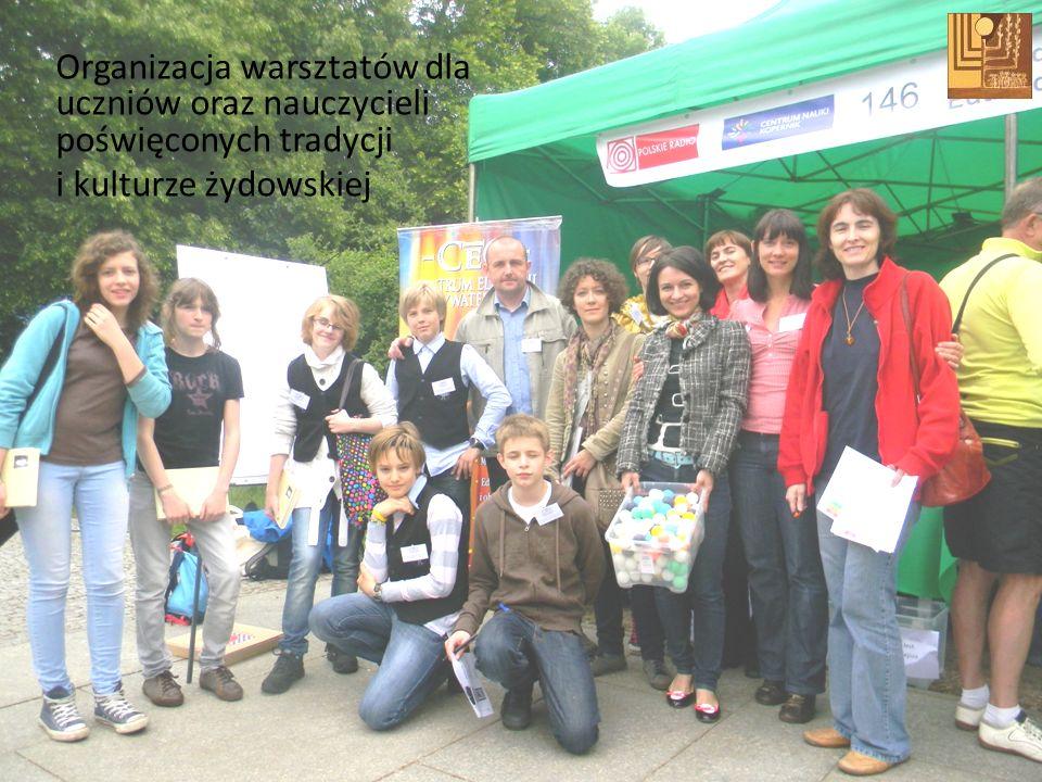 Organizacja warsztatów dla uczniów oraz nauczycieli poświęconych tradycji i kulturze żydowskiej