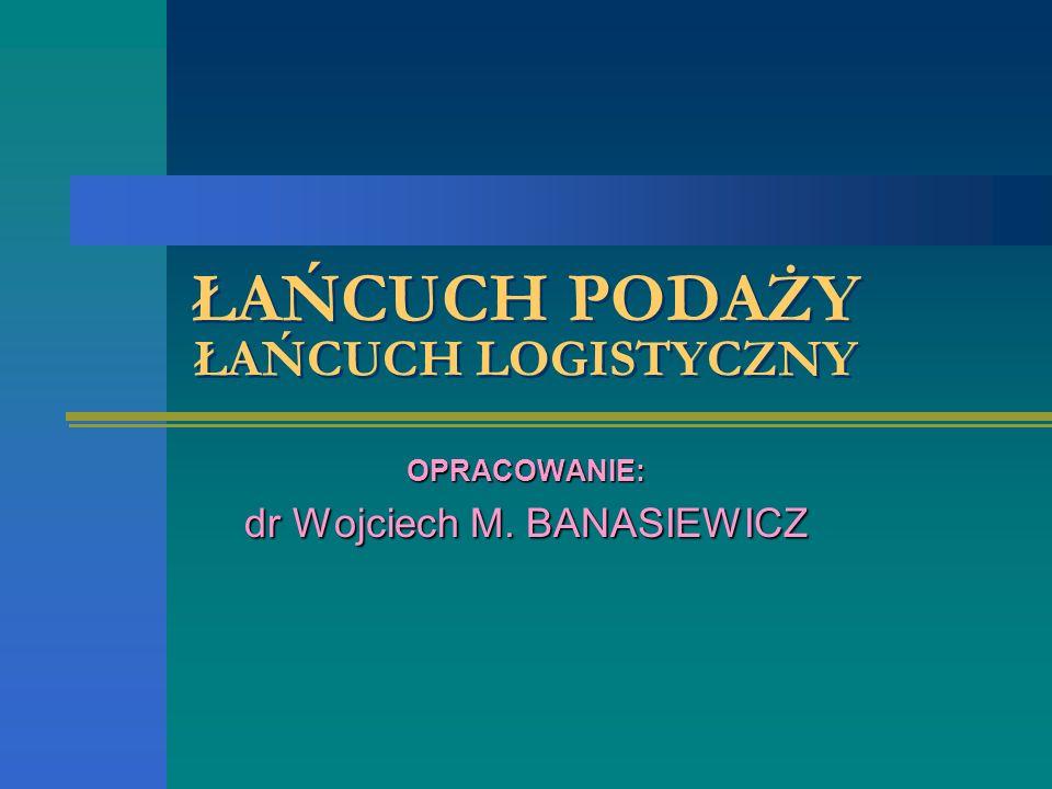 ŁAŃCUCH PODAŻY ŁAŃCUCH LOGISTYCZNY OPRACOWANIE: dr Wojciech M. BANASIEWICZ