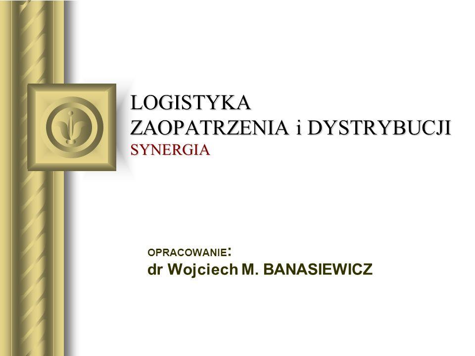 LOGISTYKA ZAOPATRZENIA i DYSTRYBUCJI SYNERGIA OPRACOWANIE : dr Wojciech M. BANASIEWICZ