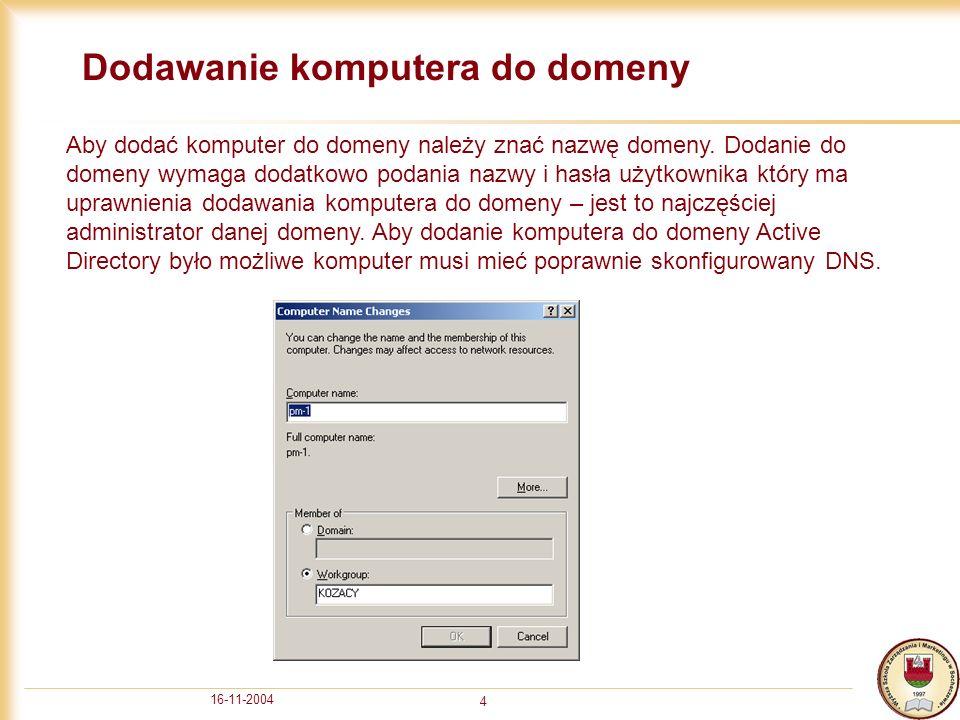 16-11-2004 5 Konfiguracja ustawień sieciowych 1/2 Aby skonfigurować ustawienia sieciowe należy kliknąć menu start > ustawienia (settings) > połączenia sieciowe (network connections).