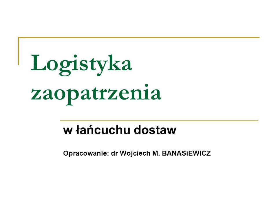 Logistyka zaopatrzenia w łańcuchu dostaw Opracowanie: dr Wojciech M. BANASiEWICZ