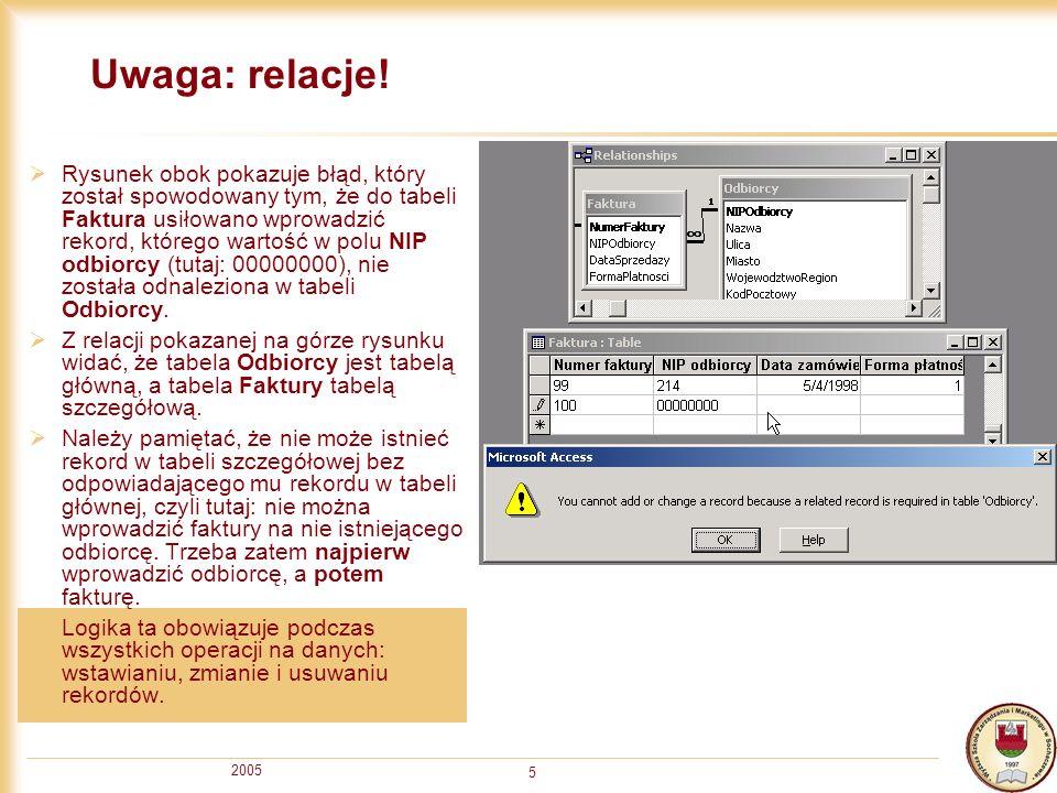 2005 5 Uwaga: relacje.