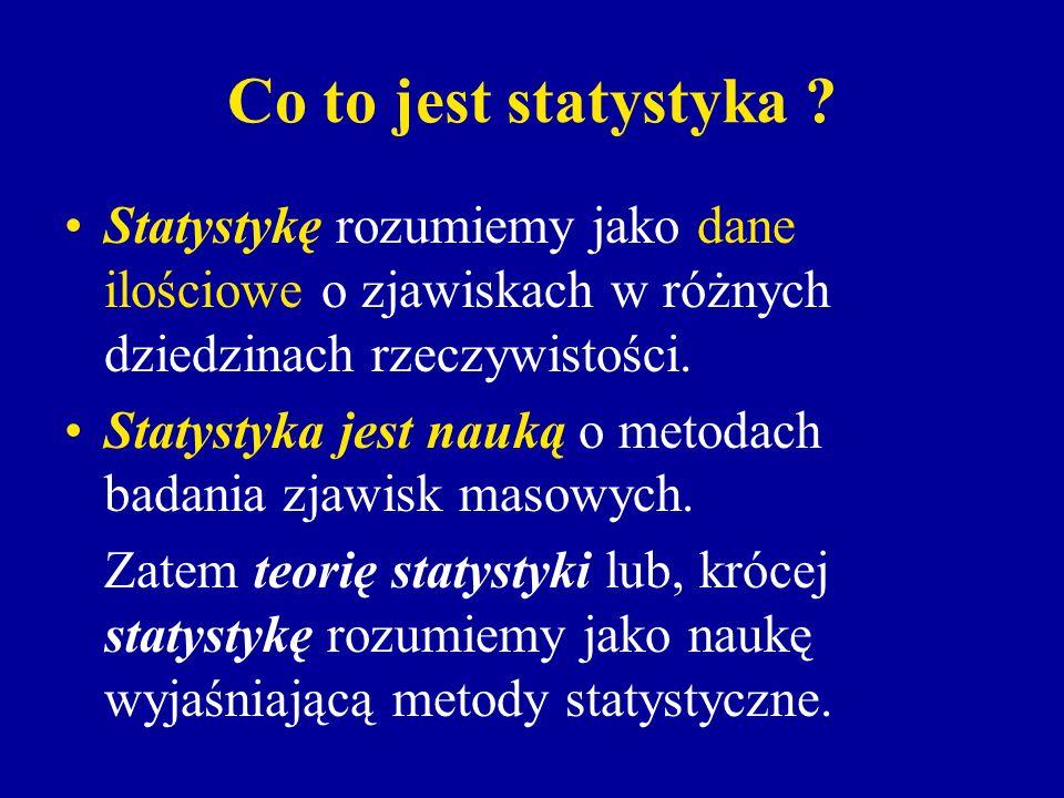 W statystyce matematycznej wyróżnia się dwa działy: teorię estymacji, teorię weryfikacji hipotez statystycznych