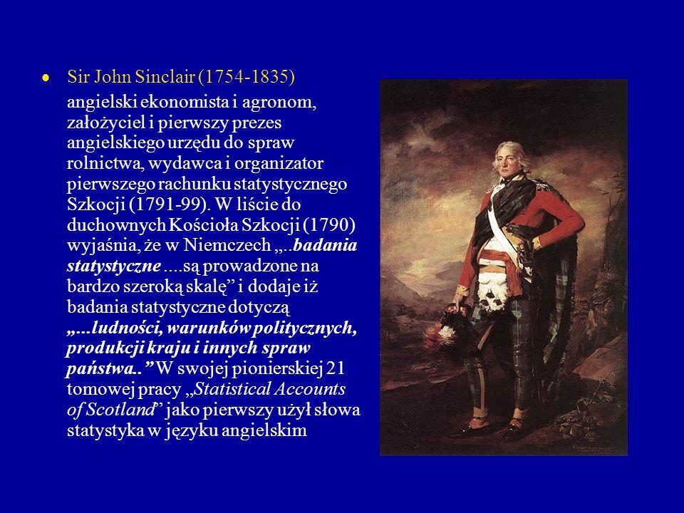 Sir John Sinclair (1754-1835) angielski ekonomista i agronom, założyciel i pierwszy prezes angielskiego urzędu do spraw rolnictwa, wydawca i organizat