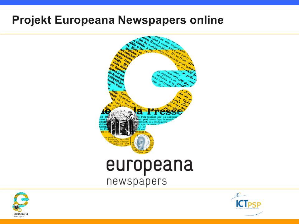 Projekt Europeana Newspapers online