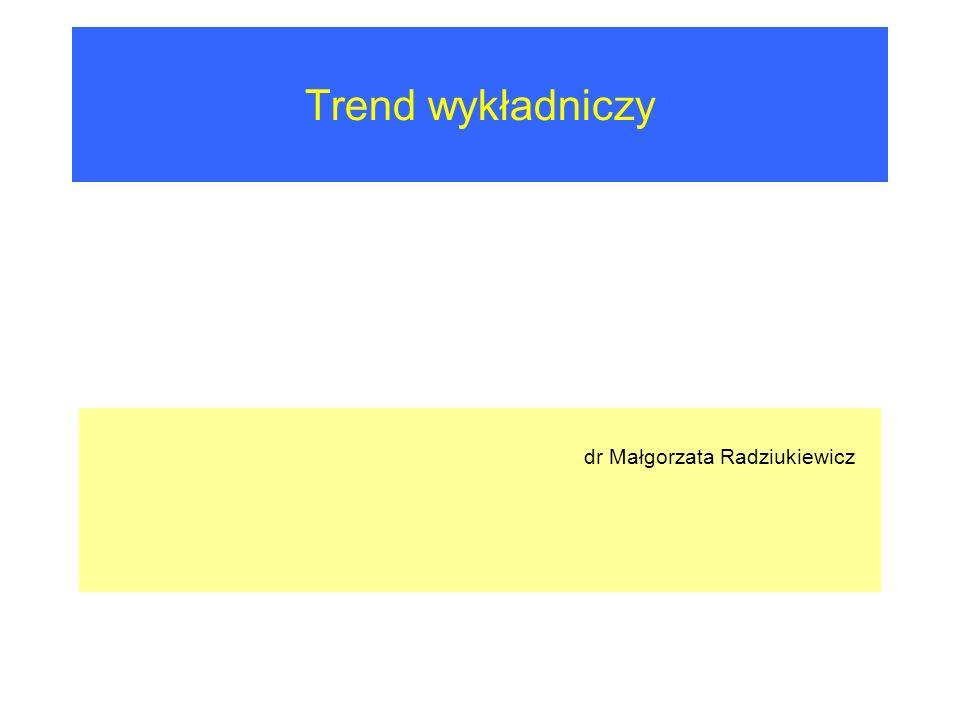 Trend wykładniczy dr Małgorzata Radziukiewicz