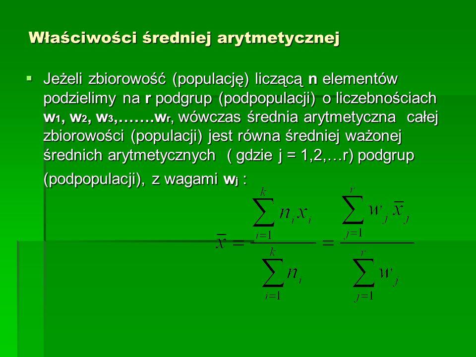 Ograniczenia w stosowaniu średniej arytmetycznej B.