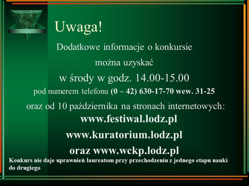 Organizatorzy: Uniwersytet Łódzki - Katedra Bibliotekoznawstwa i Informacji Naukowej - dr M. Antczak Kuratorium Oświaty w Łodzi - mgr K. Kamejsza 48 G