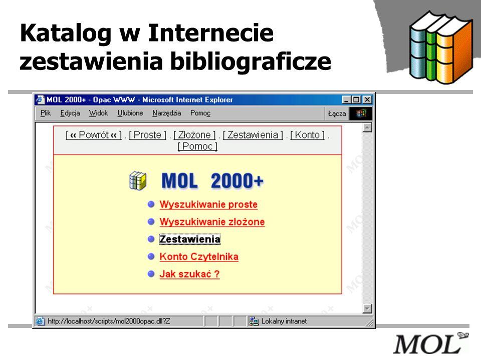 Katalog w Internecie zestawienia bibliograficze