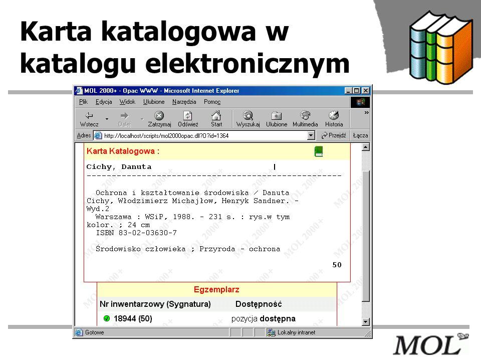 Karta katalogowa w katalogu elektronicznym