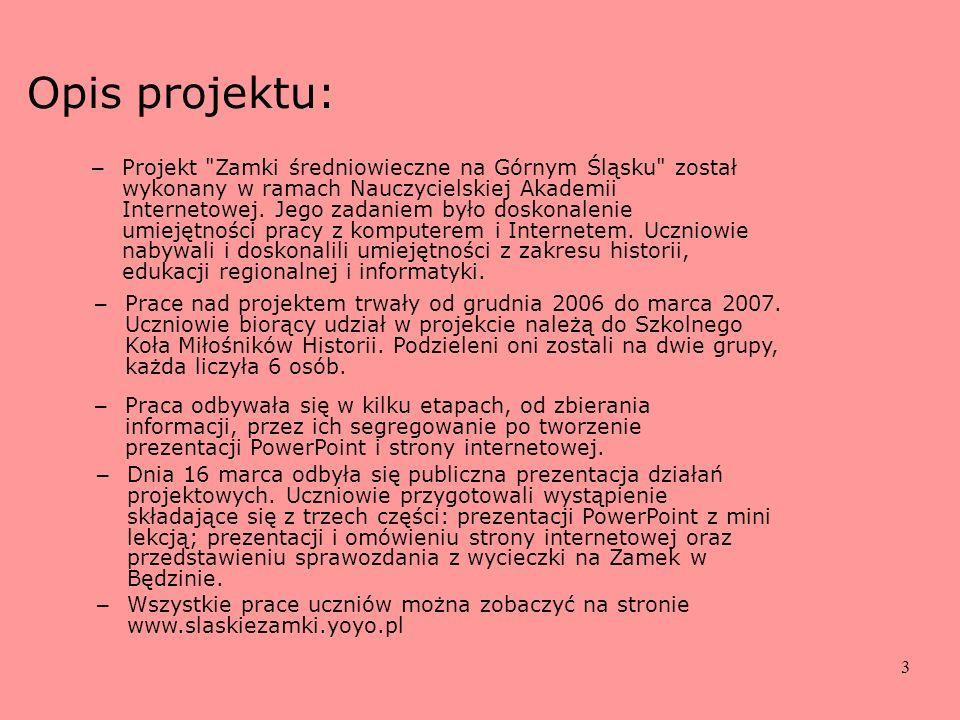 3 Opis projektu: – Projekt