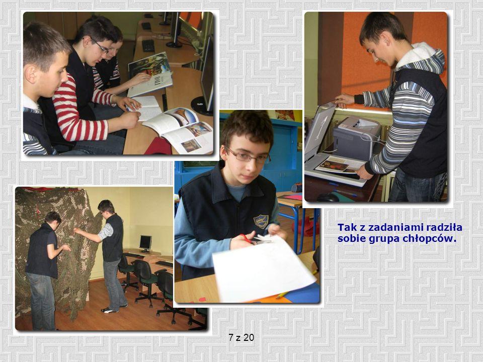 8 z 20 Moja rola w projekcie PLANOWANIE: Pomoc w ostatecznym wyborze tematów do opracowania.