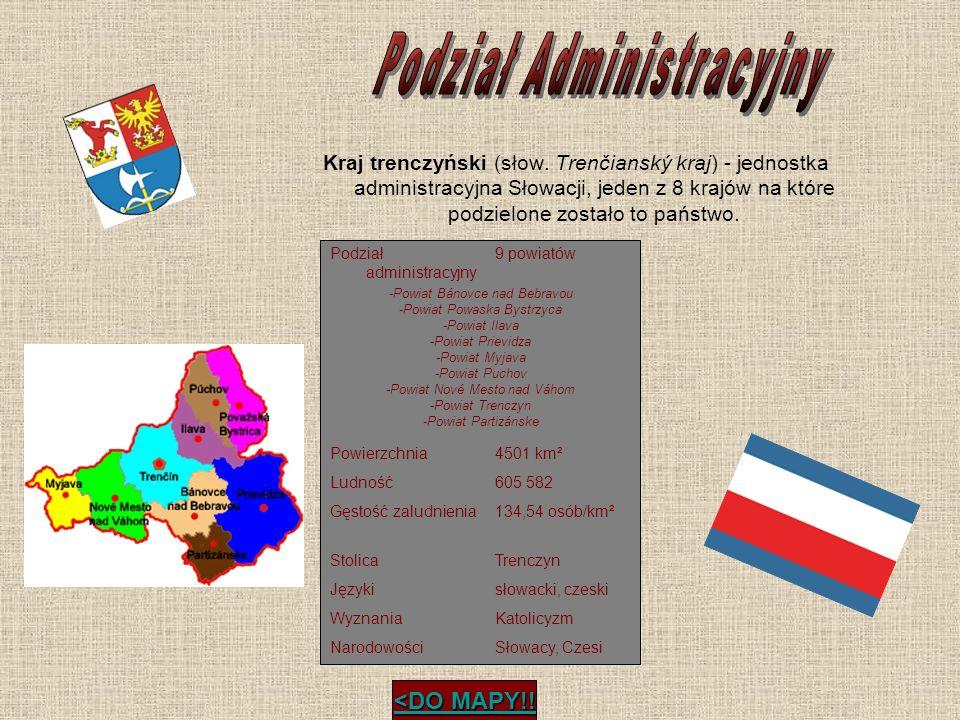 Kraj trenczyński (słow. Trenčianský kraj) - jednostka administracyjna Słowacji, jeden z 8 krajów na które podzielone zostało to państwo. <DO MAPY!! <D