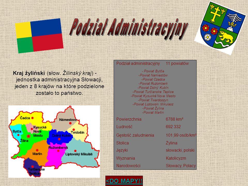 Kraj żyliński (słow. Žilinský kraj) - jednostka administracyjna Słowacji, jeden z 8 krajów na które podzielone zostało to państwo. Podział administrac
