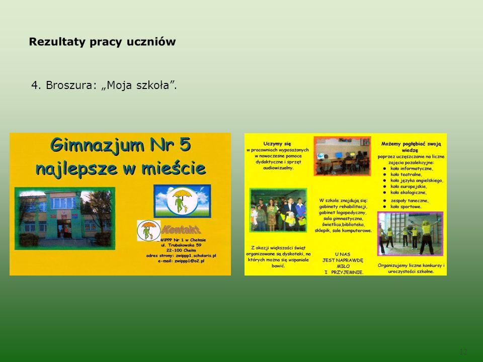 4. Broszura: Moja szkoła. 12