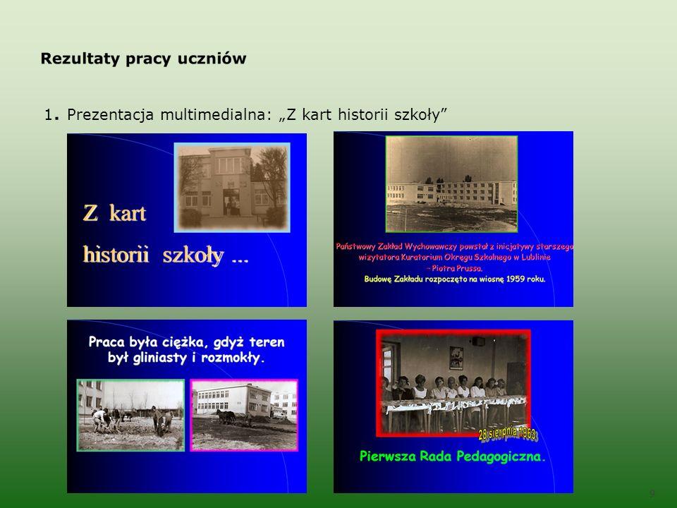 1. Prezentacja multimedialna: Z kart historii szkoły 9