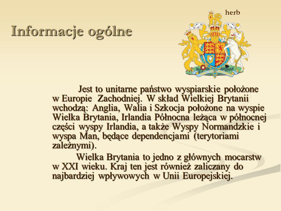 Informacje ogólne Jest to unitarne państwo wyspiarskie położone w Europie Zachodniej.