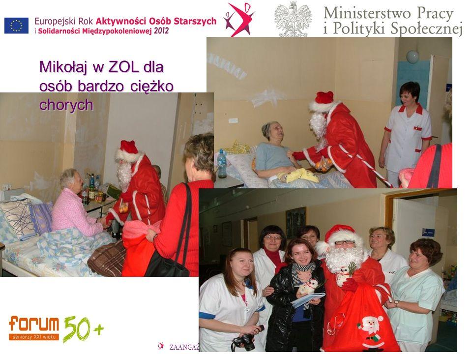 Mikołaj w ZOL dla osób bardzo ciężko chorych Mikołaj w ZOL dla osób bardzo ciężko chorych