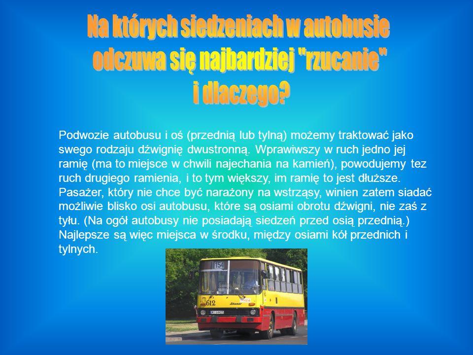 Podwozie autobusu i oś (przednią lub tylną) możemy traktować jako swego rodzaju dźwignię dwustronną.