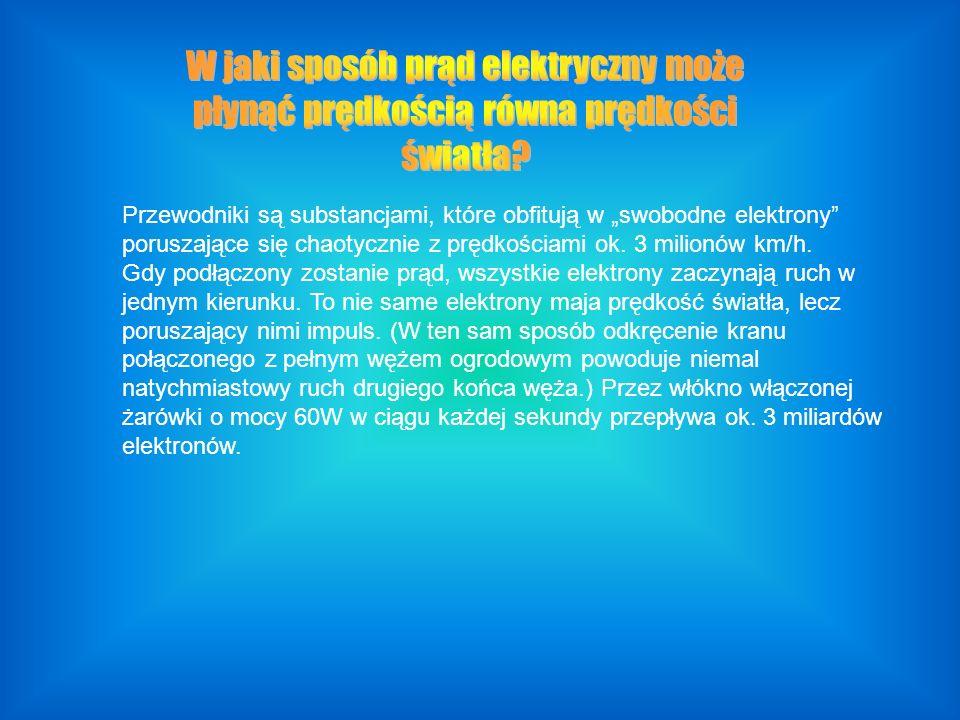 Przewodniki są substancjami, które obfitują w swobodne elektrony poruszające się chaotycznie z prędkościami ok.