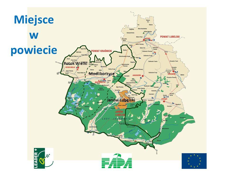 Potok Wielki Modliborzyce Janów Lubelski Miejsce w powiecie
